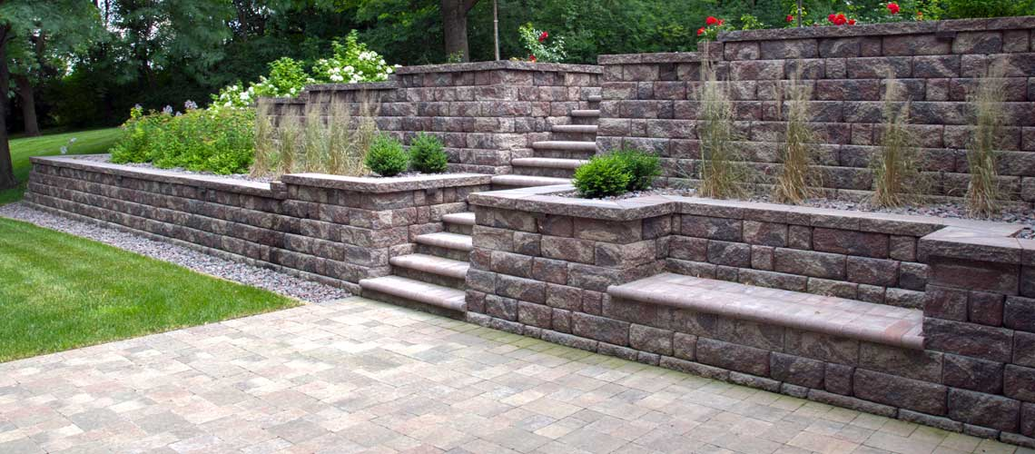 Modular Block Landscape Retaining Walls Landscape Design Unique Backyard Retaining Wall Designs